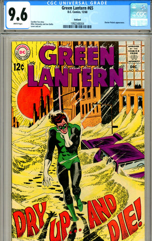 Green Lantern #65 CGC graded 9.6 white pages
