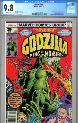 Godzilla #1 CGC graded 9.8 SOLD!