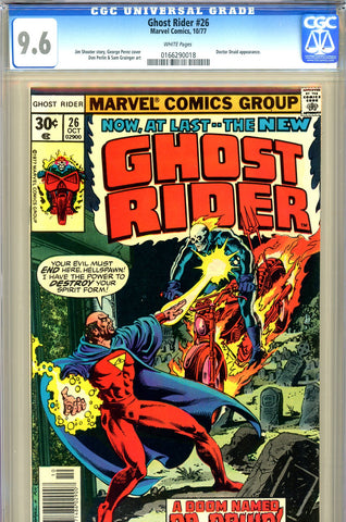 Ghost Rider #26 CGC graded 9.6 - Doctor Druid c/s