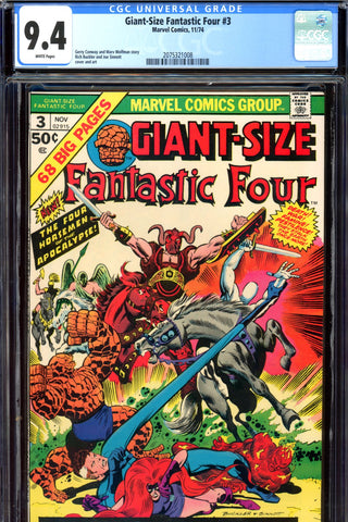 Giant-Size Fantastic Four #3 CGC graded 9.4 - Four Horsemen - SOLD!