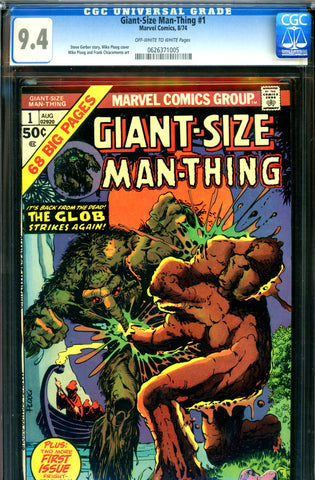 Giant-Size Man-Thing #1 CGC graded 9.4 - Ploog a/c - SOLD!