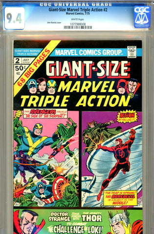Giant-Size Marvel Triple Action #2 CGC graded 9.4