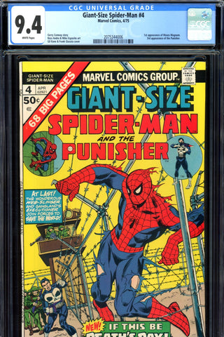 Giant-Size Spider-Man #04 CGC graded 9.4 - third ever Punisher - SOLD!