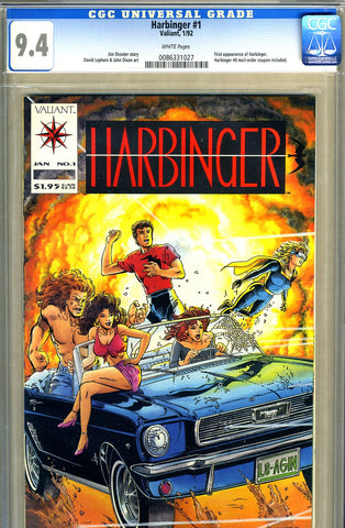 Harbinger #01  CGC graded 9.4 - first appearance SOLD!