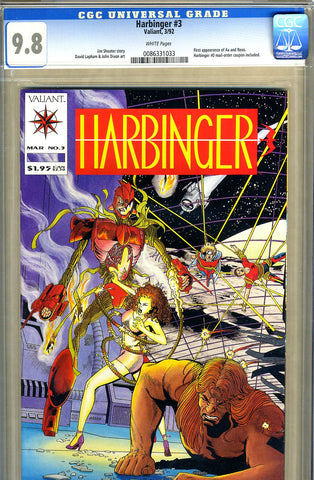 Harbinger #03  CGC graded 9.8 -HIGHEST GRADED- 1st Ax and Rexo - SOLD!