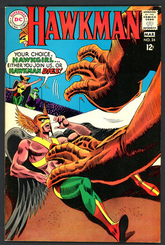 Hawkman #24   VF/NEAR MINT   1968