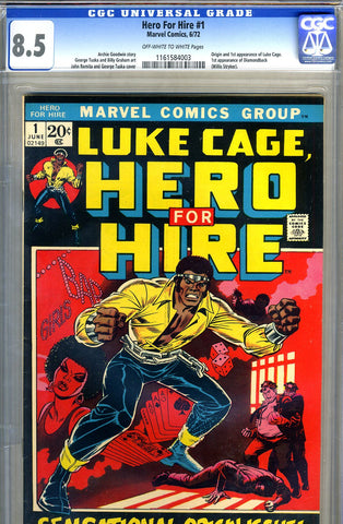 Hero for Hire #1   CGC graded 8.5 - SOLD