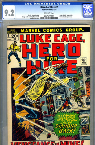 Hero For Hire #02  CGC graded 9.2 - SOLD!