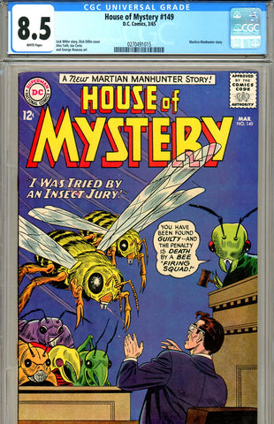 House of Mystery #149  CGC graded 8.5  white pages