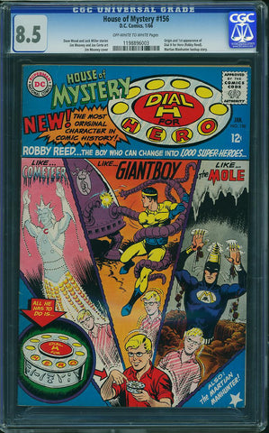 House of Mystery #156  CGC graded 8.5 - SOLD!