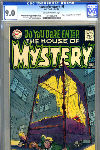 House of Mystery #178   CGC graded 9.0  Neal Adams c/a SOLD!