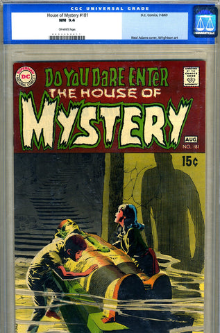 House of Mystery #181   CGC graded 9.4 - SOLD!