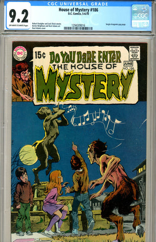 House of Mystery #186 CGC graded 9.2  Adams cover SOLD!