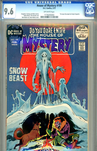 House of Mystery #199   CGC graded 9.6 Neal Adams cover