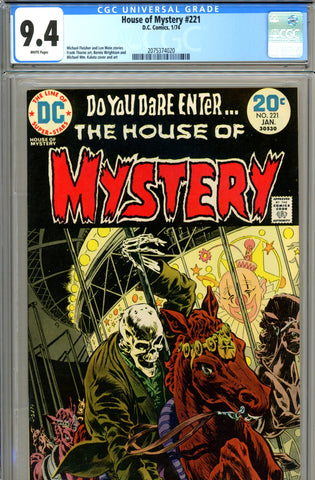 House of Mystery #221 CGC graded 9.4 Wrightson cover SOLD!