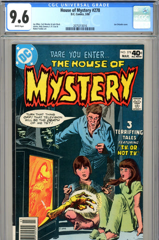 House of Mystery #278 CGC graded 9.6 SINGLE HIGHEST GRADED