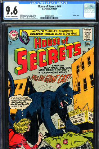 House of Secrets #69 CGC graded 9.6  - NO G.P.A. SALES