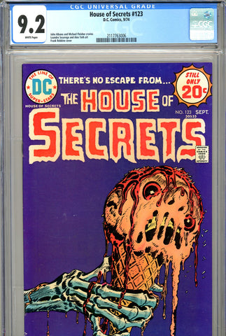 House of Secrets #123 CGC 9.2  Robbins cover - SOLD!