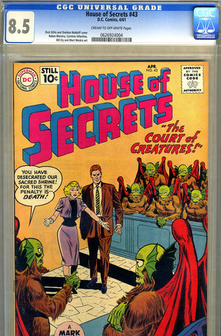 House of Secrets #43   CGC graded 8.5 - SOLD!
