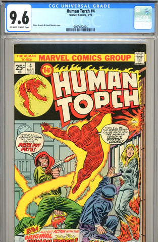 Human Torch #4 CGC graded 9.6 - 1st Paste Pot Pete (R)