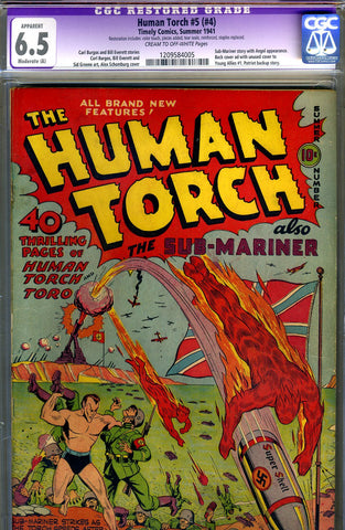 Human Torch #5 (#4)   CGC graded 6.5 - SOLD!