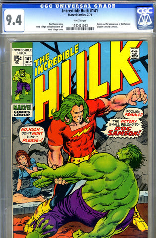 Incredible Hulk #141   CGC graded 9.4 - SOLD