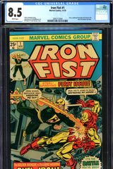 Iron Fist #01 CGC graded 8.5 - battles Iron Man