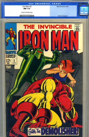 Iron Man #2  CGC graded 9.4 - SOLD