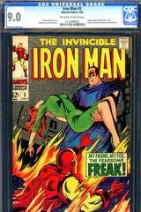 Iron Man #003 CGC graded 9.0 - Happy becomes the Freak