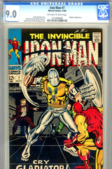 Iron Man #007 CGC graded 9.0 - Gladiator cover/story