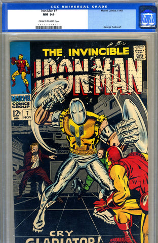 Iron Man #7  CGC graded 9.4 - SOLD