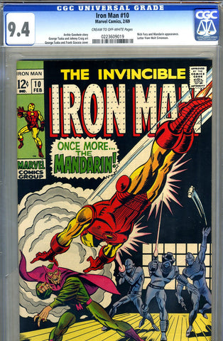 Iron Man #10  CGC graded 9.4 - SOLD!