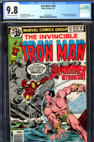 Iron Man #120 CGC graded 9.8 - HIGHEST GRADED key book