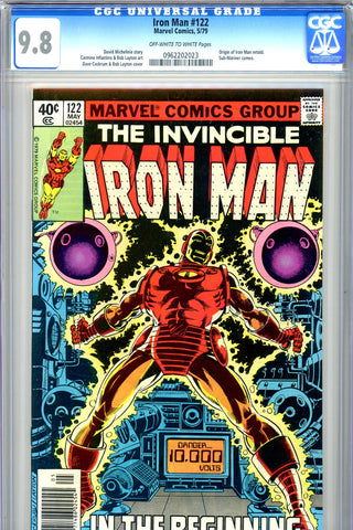Iron Man #122 CGC graded 9.8 - HIGHEST GRADED - SOLD!