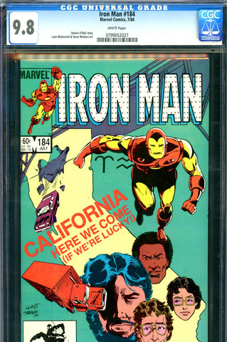Iron Man #184 CGC graded 9.8 - HIGHEST GRADED - SOLD!