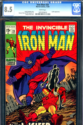 Iron Man #020 CGC graded 8.5 - last Silver Age issue SOLD!