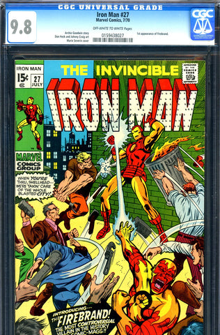 Iron Man #027 CGC graded 9.8 - HIGHEST GRADED 1st Firebrand SOLD!