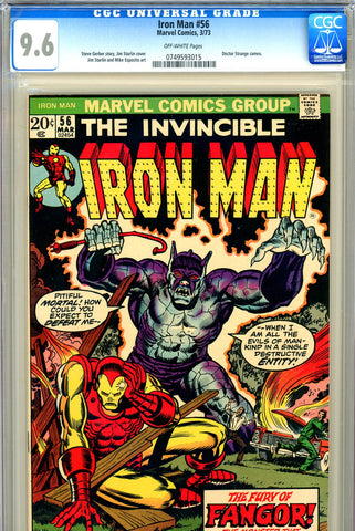 Iron Man #056 CGC graded 9.6 - Jim Starlin cover/art
