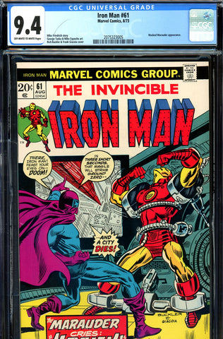 Iron Man #061 CGC graded 9.4 - Masked Marauder c/s