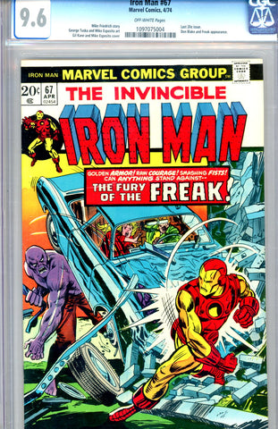 Iron Man #67 CGC graded 9.6 SOLD!
