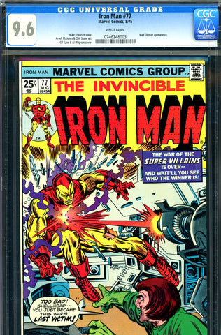 Iron Man #077 CGC graded 9.6 - Mad Thinker cover/story
