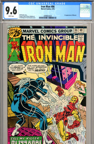 Iron Man #086 CGC graded 9.6 - first Blizzard