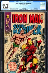 Iron Man and Sub-Mariner #1 CGC graded 9.2 - one shot