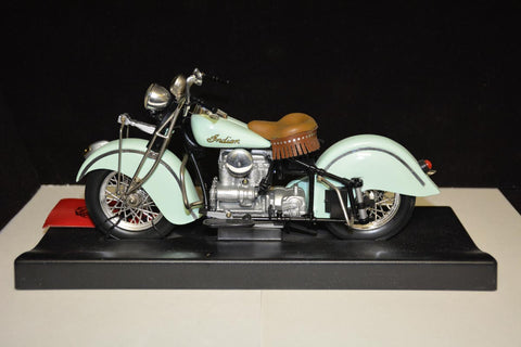 1942 Indian motorcycle (turquoise)