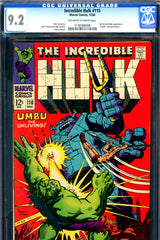 Incredible Hulk #110 CGC graded 9.2 Death Bruce Banner
