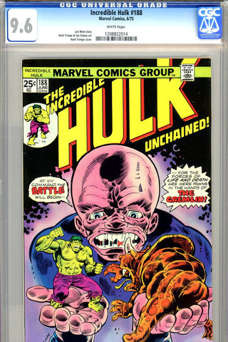Incredible Hulk #188 CGC graded 9.6  Gremlin cover/story - SOLD!