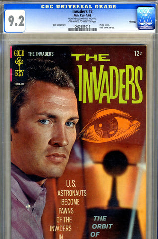 Invaders #2   CGC graded 9.2 - photo covers (Gold Key) - SOLD!