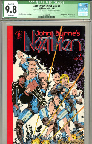 John Byrne's Next Men #1 CGC graded 9.8 qualified grade SOLD!