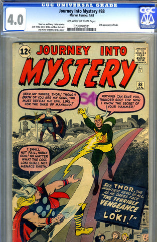 Journey into Mystery #088  CGC graded 4.0 - second Loki - SOLD
