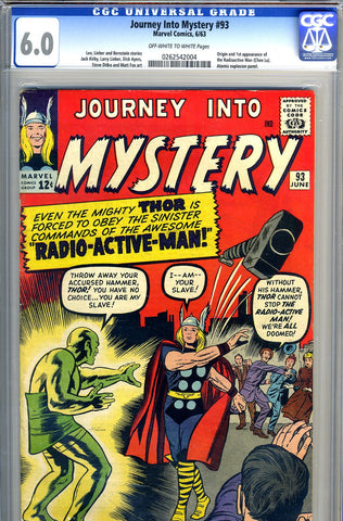 Journey into Mystery #093   CGC  graded 6.0 - SOLD!